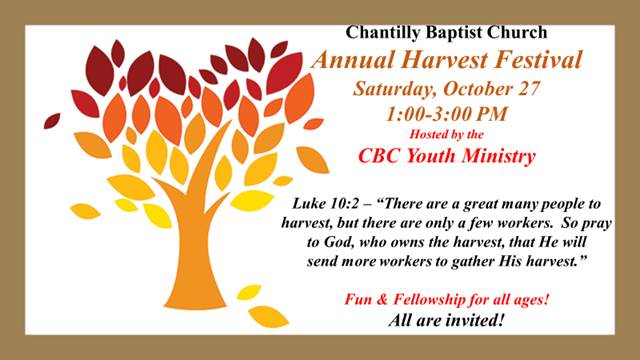 2018 Annual Harvest Fest @ Chantilly Baptist Church | Chantilly | Virginia | United States