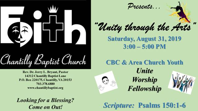 Faith Ministry: Unity Through The Arts Celebration @ Chantilly Baptist Church